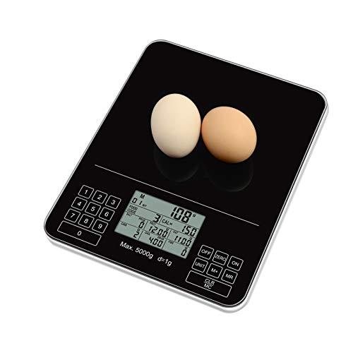 Amdohai Balance de Cuisine numérique Balance de Nutrition Balance Alimentaire Intelligente Analyse nutritionnelle des Composants Alimentaires Calories protéines Glucides Balance Precision