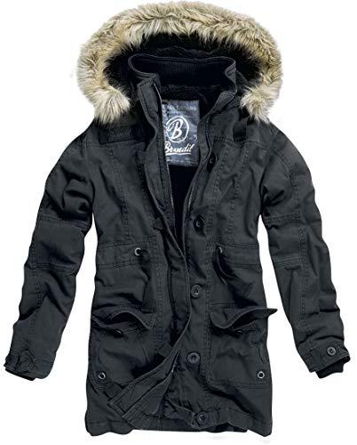 Brandit Nolita Frauen Winterjacke schwarz M 100% Baumwolle Casual Wear