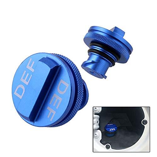 YSHtanj Diesel Fuel Cap Auto Interieur Onderdelen Reparatie Gereedschap Diesel Brandstof Gas Cap Deksel voor 2013-2017 Dodge Ram DEF Aluminium Auto Styling - Blauw