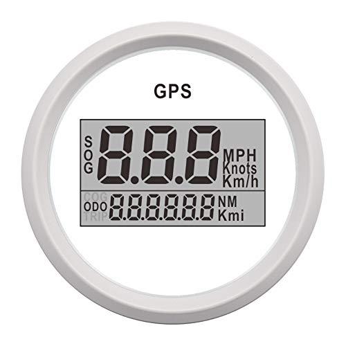 Odometer Spur 2 '' 52mm GPS-Geschwindigkeitsmesser-Digital-GPS-Boot Speedometer Spur 0~999 Knoten km/h mph Auto Speed Gauge ZHQHYQHHX (Color : WW, Size : Kostenlos)