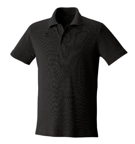 Erima Herren Basic Line Polohemd, schwarz, 46 (S)