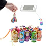 LOL lo 6 unids/set matryoshka muñeca colgante ornamento con correa de madera llavero bolso teléfono Accesorios KidsToy regalos