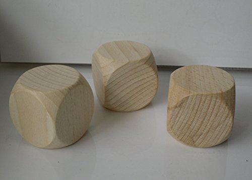 G&S 3 Blankowürfel aus Ahornholz 50 mm