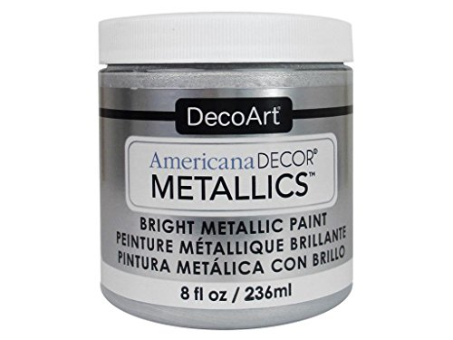 Artdeco DecoArt Americana–Decoración Jarra de metálico de Pintura, acrílico, Plata, 7x 7x 8cm