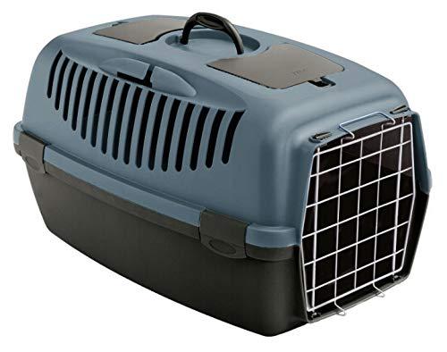 Stefanplast Karlie Gulliver 2 Cage de transport pour chien et chat Gris/bleu