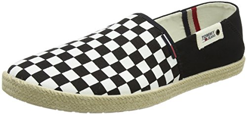 Hilfiger Denim Herren Tommy Jeans Slip ON Shoe Slipper, Schwarz (Black White Check 901), 43 EU