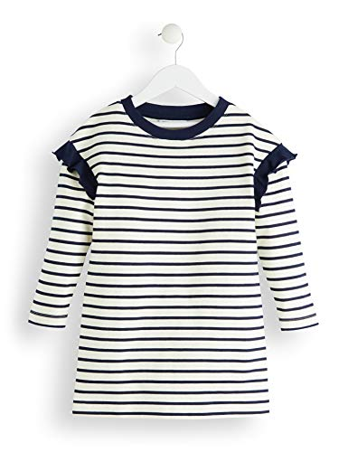 Amazon-Marke: RED WAGON Mädchen Kleid Stripped Sweater, Mehrfarbig (Multicolour), 140, Label:10 Years