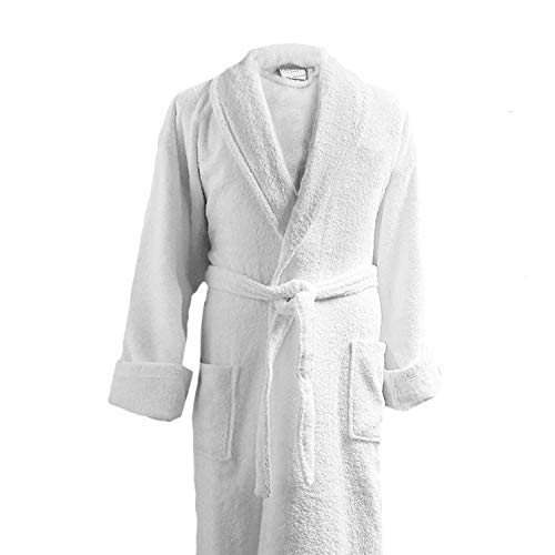 Luxor Linens - Terry Cloth Bathrobe in a Variety of Colors - 100% Egyptian Cotton - Luxurious, Soft, Plush Durable Robe - White