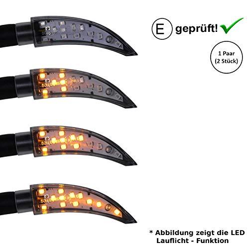 LED Blinker kompatibel mit Qingqi, CF-Moto, Herkules, IVA, JMStar Motorroller (E-Geprüft / 2Stück) (B18)