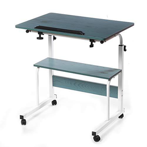 JONJUMP Mesa portátil plegable para ordenador portátil, altura ajustable, escritorio de escritura, cama auxiliar, muebles de oficina para el hogar