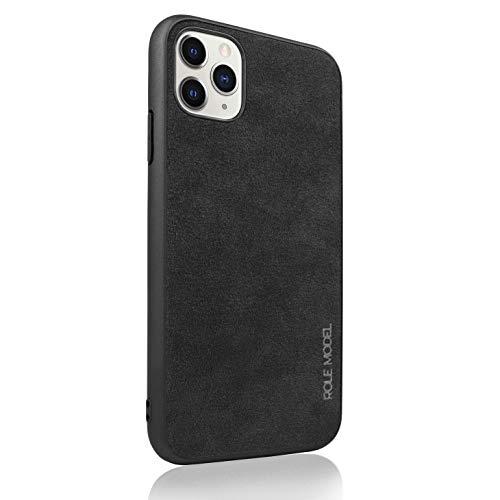 ROLE MODEL Alka Phone Case - Alcantara Smartphone Handyhülle, mit Eckenschutz, Kameraschutz und Displayschutz, Besser als Wildleder und Vegan, geeignet für Apple (iPhone 11 Pro Max, Schwarz)