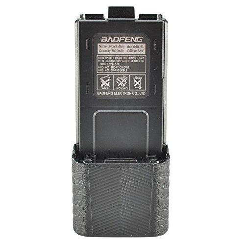 Baofeng 7.4v 3800mah Li-ion Extended Battery Black