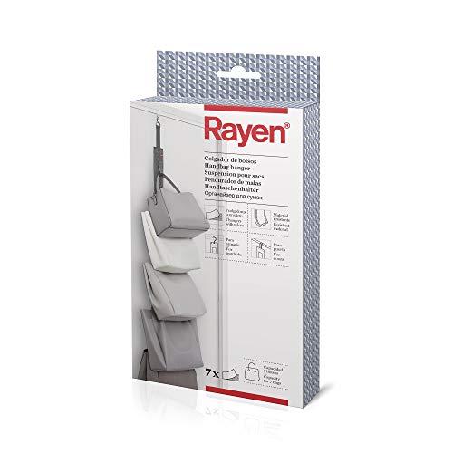 Rayen Bolsos   para Armario o Puerta   7 colgadores con Velcro   7.5 x 95 cm, Grisoscuro