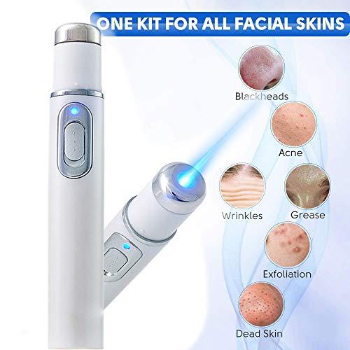 Dysel Blaulicht-Therapiestift Besenreiser Akne-Laser-Stift Weiche Anti-Krampfadern Gesicht Akne Removal Entspannen bei Gesicht Armen Beinen Oberschenkeln Bauch Knöcheln