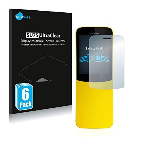 Savvies 6X Schutzfolie kompatibel mit Nokia 8110 Bildschirmschutz-Folie Ultra-transparent