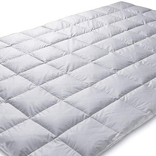 Königin der Nacht ORIGINAL EIDERDAUNE Bettdecke 140x200 cm, warm Winter (Wärmegrad 5), Füllgewicht: 630 g