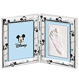 Disney Baby - Topolino Mickey Mouse - Cornice in Argento con Kit Impronte per Neonato e Ba...