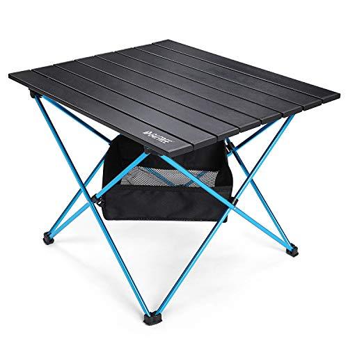 G4Free Mesa de camping plegable portátil mesa de campamento ultraligera mesas plegables de aluminio con bolsa de almacenamiento de malla (grande)