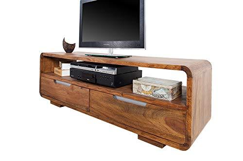 DuNord Design TV-meubel Sheesham natuur massief dressoir 130 cm massief hout natuur PANAJI TV-meubel