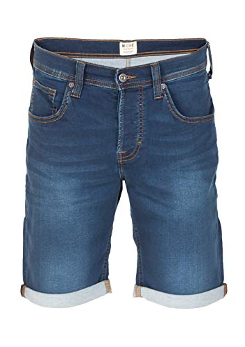 MUSTANG Herren Jeans Sweat Short Chicago Kurze Stretch Hose Real X Regular Fit - Blau - Grau, Größe:W 32, Farbe:Denim Mid Blue (682)