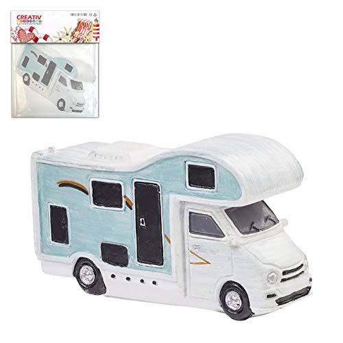 CREATIV DISCOUNT Miniatur Wohnmobil, ca. 8cm, weiß