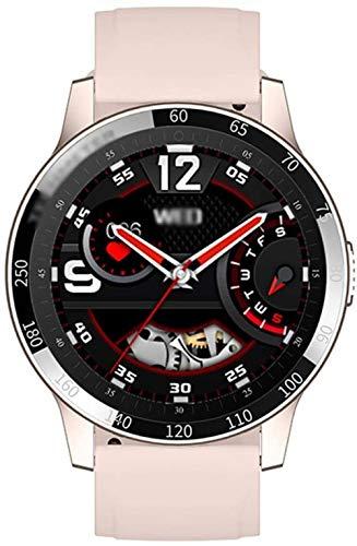 1.28 - Reloj inteligente deportivo con pantalla táctil completa para Android 4.4 y superior iOS 8.0 y superior, color rosa