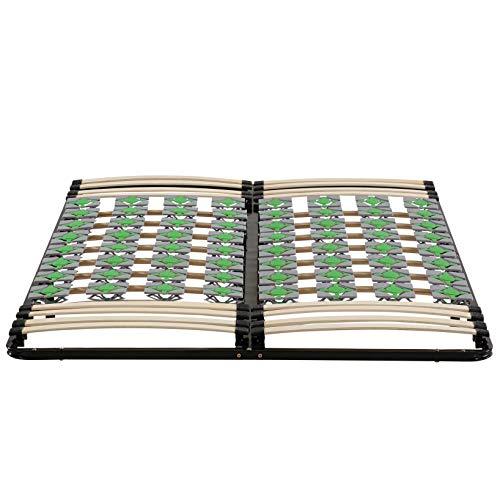 i-flair Lattenrost 160x200 cm Lattenrahmen Tellerlattenrost Ergo IF56 - für alle Matratzen geeignet - alle Größen