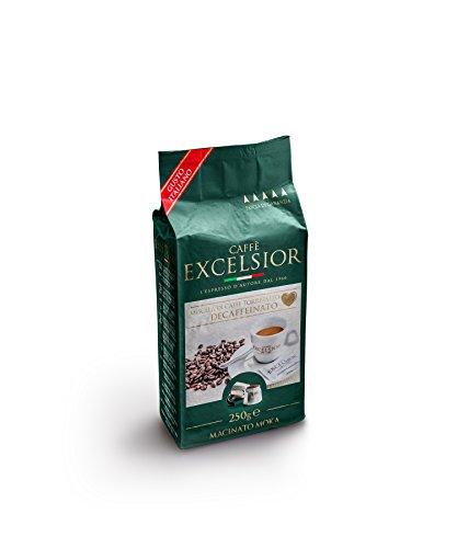 Caffè Excelsior Decaffeinato Macinato Moka sottovuoto - Confezione pacchetto 250 grammi