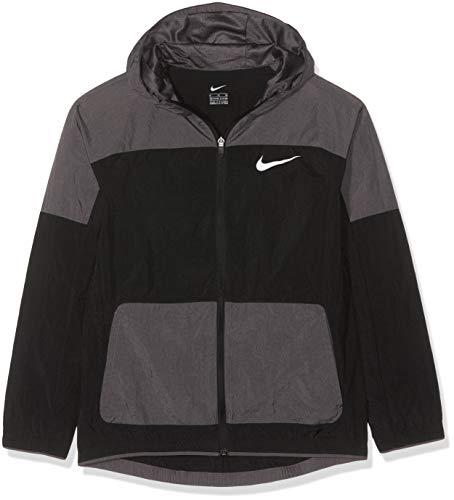 Nike Jungen B NK Woven Jacket, Black/Thunder Grey/Thunder Gre, XS