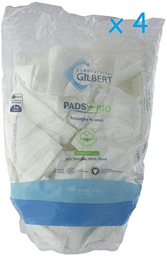 Lot de 4 Gilbert Rectangles de Coton Bio x180