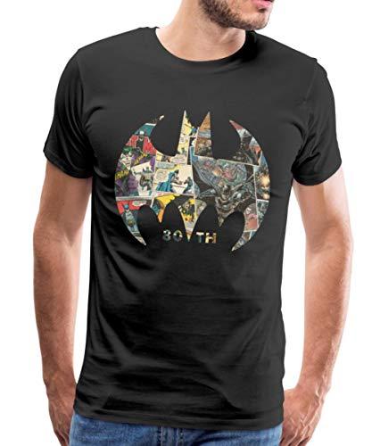 Batman 80 Ans BD T-Shirt Premium Homme, XL, Noir