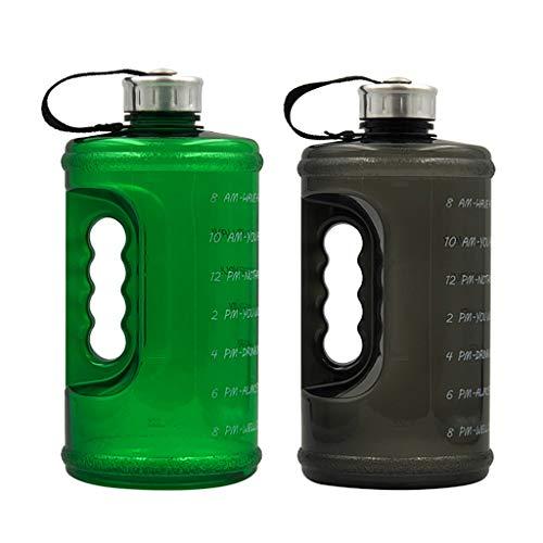 Fenteer 2X Botella de Agua de Gran Capacidad Jarra Reutilizable Taza Caldera Gym Sports 2.2L
