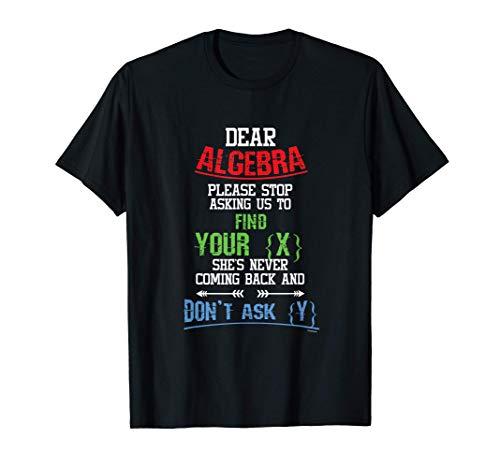 Mathematik Mathe Algebra Lösen Formelsammlung Geschenk T-Shirt