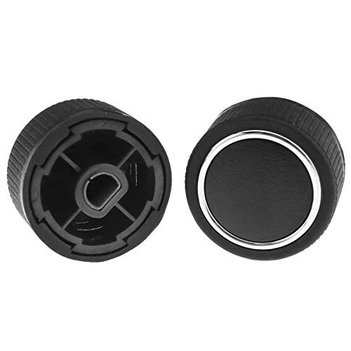 Pair of Car Control Knobs Rear Radio Air Conditioner Volume Control Knob Button