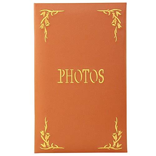 XYSQWZ Album fotografici di Grandi Dimensioni, Nucleo Ecologico, Album di Slot in Stile retrò, Copertina Ricamata in PU, Foto 6 × 4.5''240, Foto ricordo di Famiglia Business Tourism Tourism