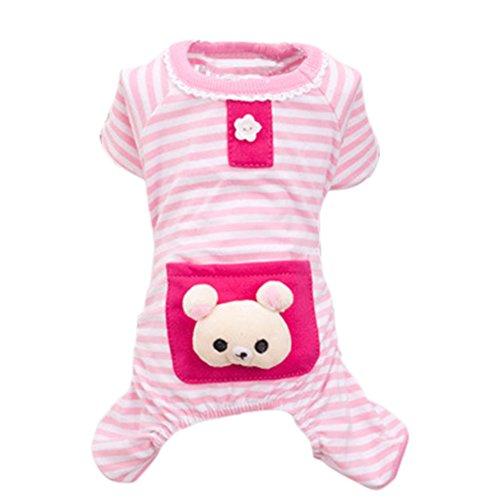 Pet Pyjamas Schlafanzug Haustiermantel Hunde Kleidung Cotton Flannelette Mantel Hoodie Jumpsuit Jacken für Hunde Katze Welpen Haustier Winter XS/S/M/L/XL pink/blau/gelb
