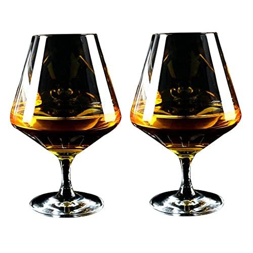 WZMPH Copa de Vino, Campamento de Fiesta de Bodas Large Taza de Vino Tinto Conjunto de 2, Moderno Creativo Transparente Cristal Cristal Vino Vino Cristal Copa de Vino Taza