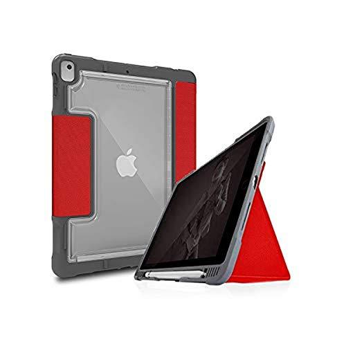 STM Dux Plus Duo - Funda para iPad de 7ª generación, Color Rojo