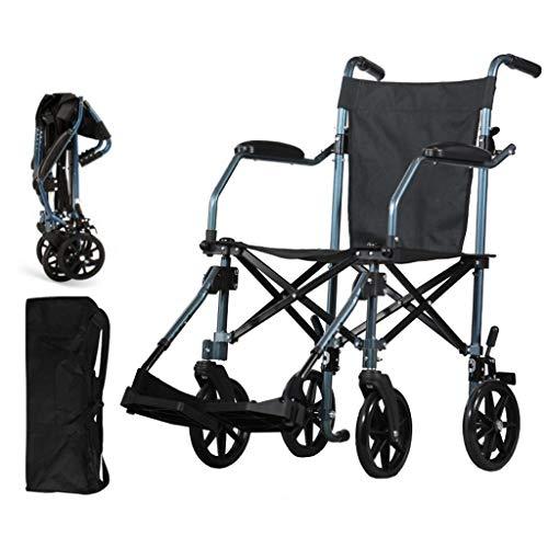 Fire Cloud Lichtgewicht rolstoel met inklapbare aluminium zitting voor ouderen en gehandicapten, veilig en comfortabel, met goede stabiliteit