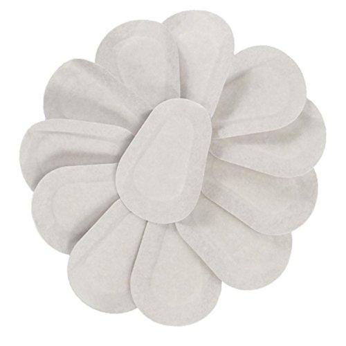 Lurrose 20pcs estériles, almohadillas no tejidas para los ojos, etiquetas adhesivas parche ojo vendajes para heridas autoadhesivas suaves para adultos