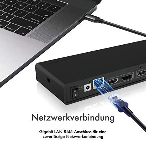 ICY BOX USB C Docking Station (für 2 Monitore) - 5