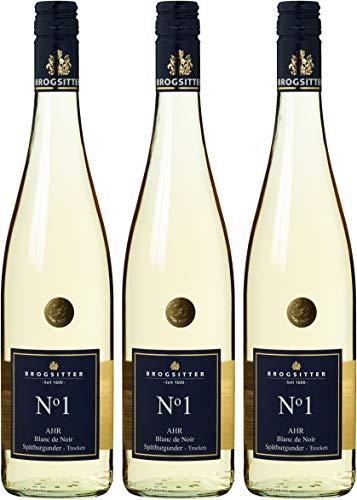 Weinkellerei Brogsitter Spätburgunder Blanc de Noir N grad 1 Trocken (3 x 0.75 l)