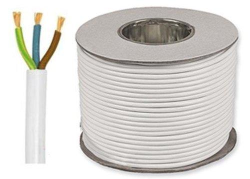 10 meter vit 1,5 mm 15 Amp 3183Y 3 Core flexibel kabel
