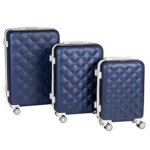 set 4 valigie trolley Enrico Coveri Set Tre Trolley da Viaggio