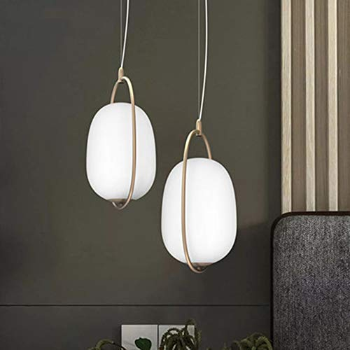 FAGavin Nordic Cafe Bar Restaurant Creative Oval Bed Glass Ball Lámparas Colgantes