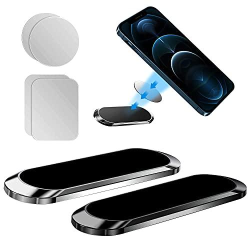 Wenearn 2 Pezzi Supporto Magnetico per Auto per Telefono, Super Magnete Staffa Cellulare, Antiscivolo Forte Legame Porta Smartphone per Auto Universale, Porta Magnetico per Cellulare Auto