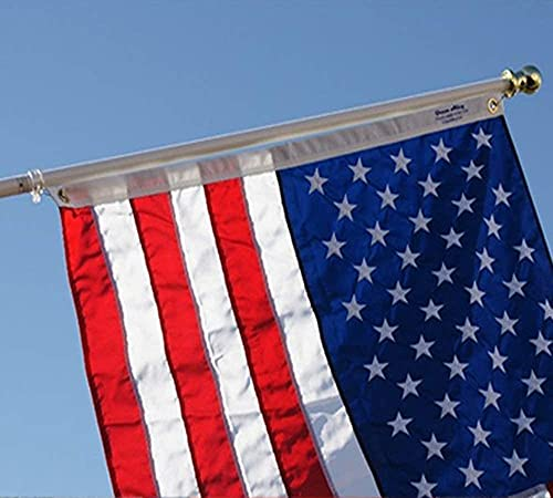 Grace Alley Flag Pole: 6 Foot Tangle Free Spinning Flag Pole. Residential or Commercial Flag Pole. Wind Resistant/Rust Free. (Silver)