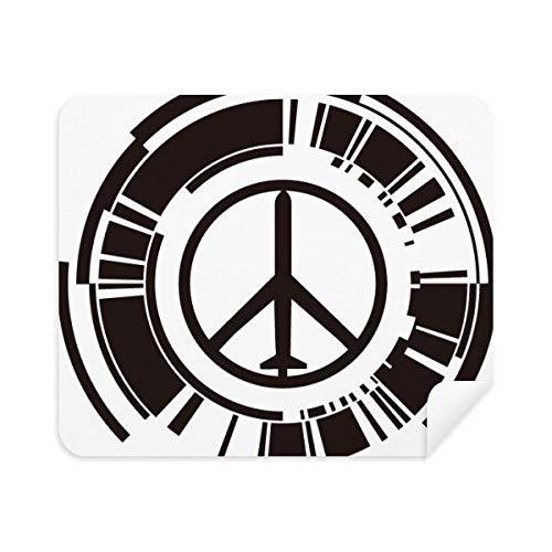 Vredessymbool vliegtuig anti-oorlog ontwerp patroon telefoon scherm reiniger bril schoonmaken doek 2 stks Suede stof