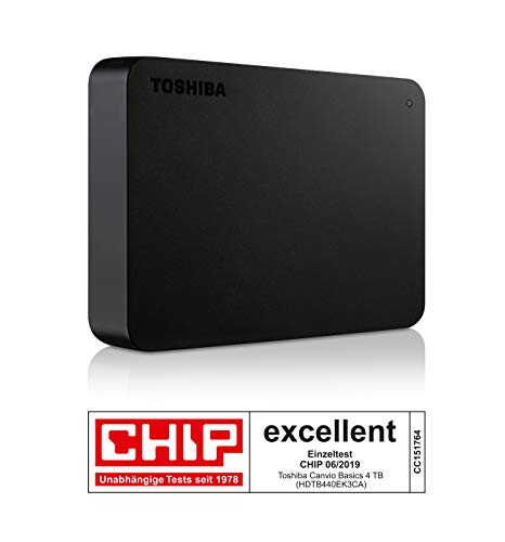 Toshiba Canvio Basics 4TB Portable External Hard Drive USB 3.0 for PC, Xbox, PS4. HDTB440EK3CA