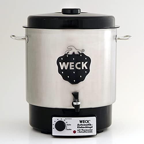 WECK Glühweintopf / Einkochautomat WAT 24A (Einkochtopf aus Edelstahl, 35cm, 30 L, 230V, 1800 W) 6832